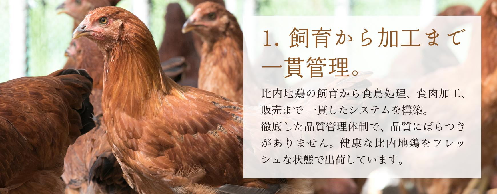 飼育から加工まで一貫管理